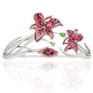 La Nature de ChaumetPassion Incarnat red spinel, garnet, tourmaline and diamond lilytiara
