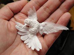 cut paper sculpture by Calvin Nicholls
