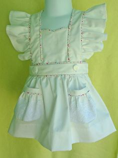 dcf4b6e8d Items similar to baby girl romper, girls romper, baby romper, handmade  romper, baby bonnet, girls first birthday outfit, Pinafore Romper,  Removable Skirt on ...