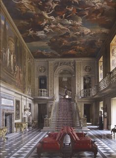 Chatsworth House in England ~ Painted Hall