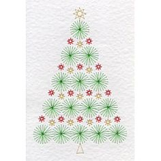 Christmas Tree pattern at Stitching Cards