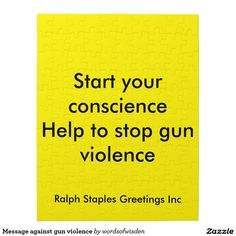 Message against gun violence jigsaw puzzles