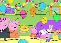 JuegosdePeppa.com - Juego: Rompecabezas Cuarto Aniversario Puzzles de Dibujos Online Juegos Peppa Gratis Online