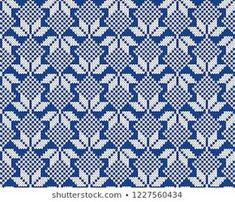Norway Festive Sweater Fairisle Design. Seamless Knitting Pattern Fair Isle Knitting Patterns, Knitting Stiches, Knitting Charts, Weaving Textiles, Weaving Patterns, How To Start Knitting, Double Knitting, Celtic Cross Stitch, Dobby Weave