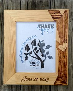 Photo courtesy of Etsy. Bring out your multiple crafting skills and try something like this. Great for a wedding or bridal shower gift, this wood burned photo frame would look fantastic with a favorite quote, photo, phrase or word art printed, stenciled or transferred onto fabric. Actually, the sky is the limit for this idea. Get crafting! tch