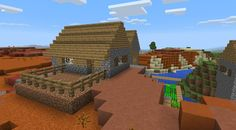 0.10x MCPE Seed - Village on Mesa Biome!