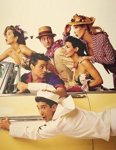 Friends cast retro shoot.