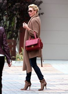I would fall over in the heels but I love everything else! Katherine Heigl Stays Stylish in West Hollywood