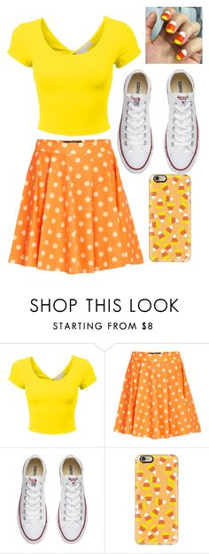 """""""Candy corn"""" by lauren53103 on Polyvore featuring Jeremy Scott, Converse, Casetify, Costume and candycorn"""