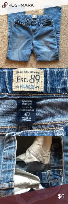 Children's place sz 10 skinny stretch adjustable Knees thin. The Children's Place Bottoms Jeans