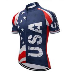 3666c2e22 Lolamart ~ Products ~ Bike Racing Sport Cycling Jersey USA Style Breathable Cycling  Clothing MTB Bicycle