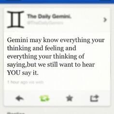 All About Gemini's