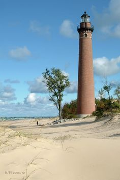 Little Sable Lighthouse located on Lake Michigan at Silver Lake Michigan  Your soooo missed