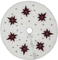 """Complete your Christmas tree with our North Star Felt Tree Skirt 48"""" and give your home an overall festive flair. https://www.primitivestarquiltshop.com/products/north-star-felt-tree-skirt-48 #MerryChristmas"""