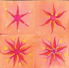 Malanleitung Blume von Pinselstrich  auf DaWanda.com