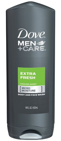 Dove Men + Care Body and Face Wash, Extra Fresh, 18 Ounce (Pack of 3)