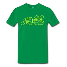Hill Valley A Nice Place To Live T-Shirt | N36 Apparel: jets, aircraft, computer games, guns, military planes, weapons, nerd, cool, retro & gee