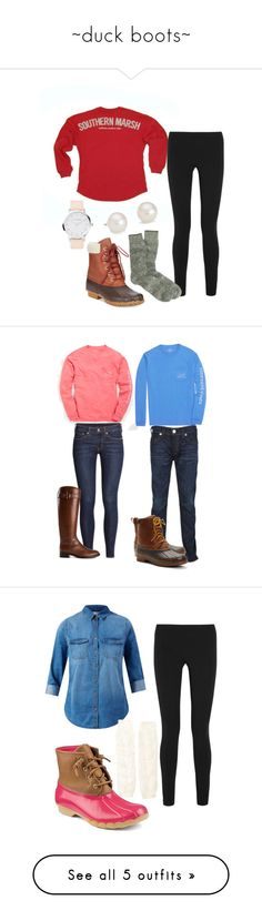 """~duck boots~"" by i-am-bryana ❤ liked on Polyvore featuring Helmut Lang, J.Crew, Tommy Hilfiger, Blue Nile, Vineyard Vines, H&M, Tory Burch, True Religion, Brooks Brothers and kcouplescontest"