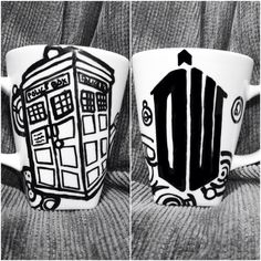 Doctor Who Tardis Mug and logo by simplycolorfilled on Etsy, $18.50