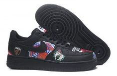 dad5be1c527 Unisex Supreme x NBA x Nike Air Force 1 AF1 Low Graffiti Black AQ8017 002  Men s