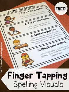 Free Finger Tap Spelling Visuals - Single Page and Wall Charts - This Reading Mama
