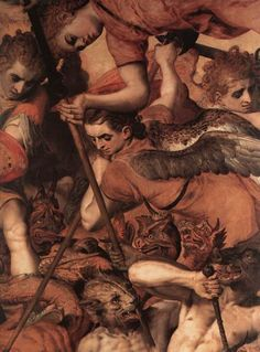 The Fall of the Rebellious Angels ( deatil), , Frans Floris. Flemish Northern Renaissance Painter (1516-1570)
