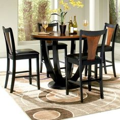 kitchen dining set how to up a pantry table walmart canopy gallery collection 5 piece counter mayer height