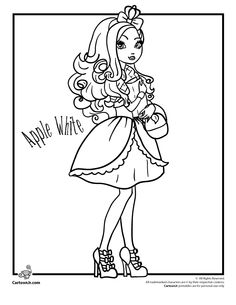 15 Free Printable Coloring Pages Of The Ever After High Dolls