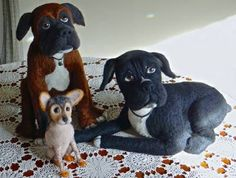 "Needle Felted Dogs  - by Trish Veilleux ""I Felt That - Needle Feltings by Trish"" on Facebook."