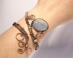 Navidad del pun o venta 15% cobre pulsera por ValentinaWireJewelry