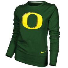 Oregon Ducks Ladies Green Excel Pullover Crew Sweatshirt