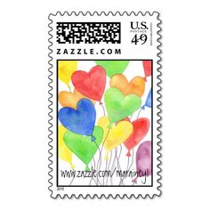 Add stamps to all your different types of stationery! Find rubber stamps and self-inking stamps at Zazzle today! Heart In Nature, Postage Stamp Art, Heart Balloons, I Love Heart, Self Inking Stamps, Stamp Collecting, Festival Party, My Father, Heart Shapes