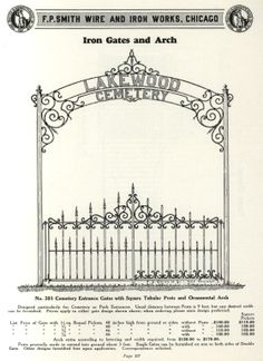 Wire Products: Ornamental Iron & Bronze. F. P. Smith Wire & Iron Works, 1933. From the Association for Preservation Technology (APT) - Building Technology Heritage Library, an online archive of period architectural trade catalogs. It contains thousands of catalogs. Select your material and become an architectural time traveler as you flip through the pages.