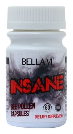 INSANE is an effective bee pollen capsule that was formulated to cleanse and detoxify the digestive system.  The specialized herbs were designed to fire up your metabolism, suppress appetite, curb sugar cravings, detox the body, boost energy levels, enhance concentration and alertness and accelerate fat loss.