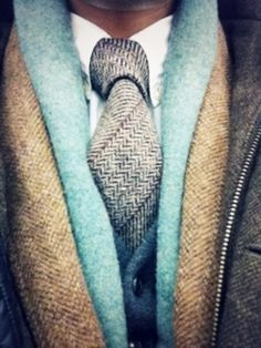 layers and layers of texture, man fashion