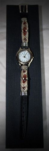 White Horse Hair Watch with Red Beading | eBay