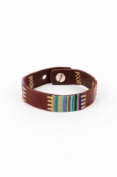 Stiched and Woven Indie Bracelet $14