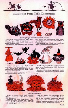 Dennison's Bogie Book - 1915 The Dennison Paper Company were the producers of Halloween theme paper products. Retro Halloween, Vintage Halloween Decorations, Halloween House, Holidays Halloween, Spooky Halloween, Halloween Crafts, Happy Halloween, Halloween Party, Halloween Costumes
