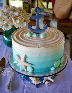 Nautical Baby Shower Cake | Life Is Sweet As A Peach