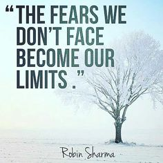 #The Fear we don't face become our Limits#inspirationalquotes #selfimprovement