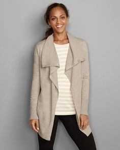 Women's Flightplan Long Drape Cardigan | Eddie Bauer 80/60
