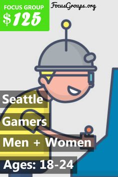 Fieldwork Seattle is looking for people age 18 to 24 to participate in paid focus groups for gamers! The groups will take place in our downtown Seattle office on Thursday, February 23rd. The groups will last 2 hours, and you will receive a $125 prepaid Visa card for your participation. If you are interested in participating, please sign up and take the survey to see if you qualify.