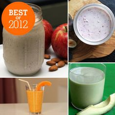 Best of 2012: Healthy Smoothie Recipes For Any Occasion: A smoothie is a convenient meal or snack option any time — just throw in your ingredients in a blender, pour into a glass, and enjoy! Even better: the ingredient possibilities for shakes and smoothies are endless. We should know; we've spent the past year creating and recreating our favorite healthy smoothie recipes. Keep reading to see which healthy smoothies we've been blending up all year long!