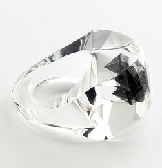 Diamonds in acrylic // Ring by Ted Noten + Joost Lyppens