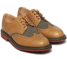 x Bodega Olive Wool Country Brogue Shoe