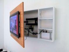 Idea fijar televisión y esconder los cables y cajas