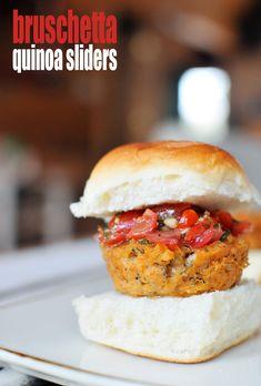 Bruschetta Quinoa Sliders // @Dawn G and Nourish #vegetarian