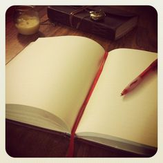 Emptiness is both the absence and the presence of everything. Blank pages, perfect chances to create new stories.  (Stevie)
