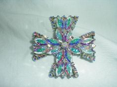 weiss brooch vintage maltese cross by qualityvintagejewels on Etsy, $225.00