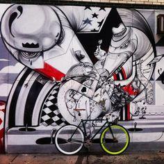 HOWNOSM STREET ART MURAL NYC